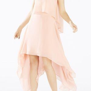 BCBG MaxAzria- Marilee Draped Tiered Gown-feminine